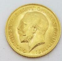 1914 GREAT BRITAIN GOLD HALF SOVEREIGN COIN BU   .1177AGW L7