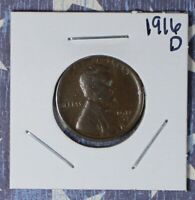 1916-D LINCOLN WHEAT CENT COLLECTOR COIN SHIPS FREE