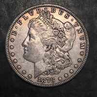 1878 7 TAIL FEATHER REV OF 78 MORGAN SILVER DOLLAR - HIGH QUALITY SCANS I486