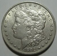 1902 AU MORGAN DOLLAR, BETTER DATE, SCRATCHED, SHIPS FREE