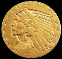 1911 S GOLD US $5 INDIAN HEAD HALF EAGLE COIN SAN FRANCISCO