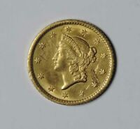 1853 U.S. ONE DOLLAR $1 LIBERTY HEAD GOLD COIN PIECE