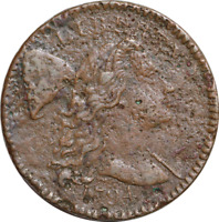 1794 S-61 LIBERTY CAP FLOWING HAIR LARGE CENT 1C VF/EXTRA FINE  DETAILS CORROSION DATE