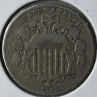 1882 5C SHIELD NICKEL TYPE COIN CIRCULATED
