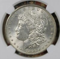 1896 MORGAN SILVER DOLLAR NGC MINT STATE 63 COLLECTOR COIN. SHIPS FREE