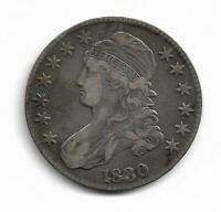 1830 CAPPED BUST 1/2 HALF DOLLAR - VF O-116 R-2  LOOKING COIN