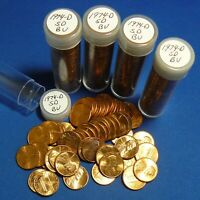 1974 D SMALL DATE LINCOLN MEMORIAL CENTS   BU   5 ROLLS