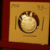 CANADIAN 5 CENTS 1912 VG CLEANED
