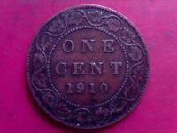 CANADA LARGE CENT  1910    OCT17