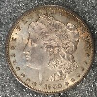 1890-S MORGAN SILVER DOLLAR - NEARLY UNCIRCULATED - HIGH QUALITY SCANS H577