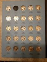 1916 1945 MERCURY DIME SET MISSING 1916 D AND 1942 OVER41 76