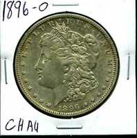 1896-O $1 MORGAN SILVER DOLLAR IN CHOICE AU CONDITION 01150