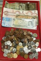 $78.74 CAD FV LOT OF CANADA COINS & BANKNOTES   GREAT MIX