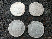 LOT OF 4 MORGAN DOLLARS 1888-O, 1896-O AND 1899-O, 1901-O BOTH HIGH GRADE