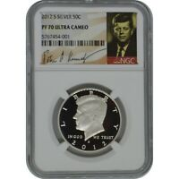 2012 S KENNEDY NGC PF70 ULTRA CAMEO PROOF SILVER HALF DOLLAR