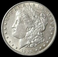 1896 O NEW ORLEANS MORGAN SILVER DOLLAR $1 COIN AU