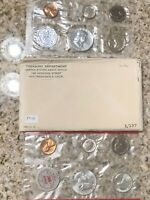 1962 SILVER UNC US MINT SET WITH BOTH P & D  10 COINS  IN WH