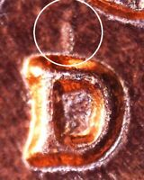 1961 D LINCOLN MEMORIAL CENT   BU   REPUNCHED MINT MARK   1MM 013 / RPM 013