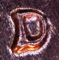 1961 D LINCOLN MEMORIAL CENT   BU   REPUNCHED MINT MARK   1MM 077