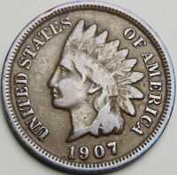 1907 1C INDIAN CENT IHC INDIAN HEAD PENNY COPPER 14657