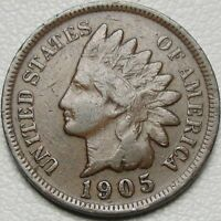 1905 1C INDIAN CENT IHC INDIAN HEAD PENNY COPPER 14651