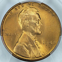 1948-S PCGS MINT STATE 67RD LINCOLN CENT