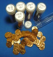 1972 D LINCOLN MEMORIAL CENTS   BU   6 TUBED ROLLS