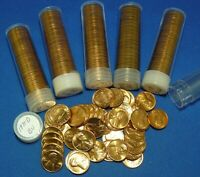 1971 D LINCOLN MEMORIAL CENTS   BU   6 TUBED ROLLS