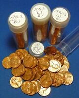 1970 S LARGE DATE LINCOLN MEMORIAL CENT    BU    4 TUBED ROLLS