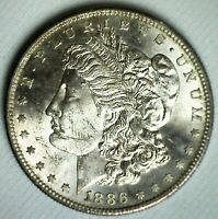 1886 S MORGAN SILVER BU DOLLAR $1 US COIN UNCIRCULATED SAN FRANCISCO MINTED