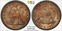 1871 PCGS XF DETAIL CLEANED TONED LIBERTY SEATED DOLLAR  DW9