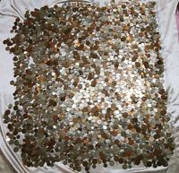 41 LBS WORLD FOREIGN COINS POUNDS USEARCHED FROM MANY COUNTR