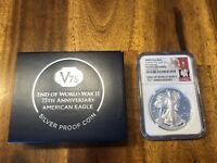 2020 W END OF WWII 75TH ANNIVERSARY AMERICAN SILVER EAGLE V75 NGC PF70 FR