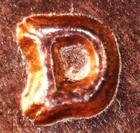 1958 D LINCOLN WHEAT CENT   BU   RE PUNCHED MINT MARK 1MM 029