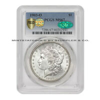 1903-O $1 SILVER MORGAN PCGS MINT STATE 67 PQ APPROVED CAC CERTIFIED NEW ORLEANS DOLLAR