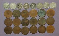 2 AND 3 CENT PIECE LOT   15 TWO CENT PIECE CULLS AND 8 THREE CENT PIECE CULLS