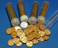 1963 D LINCOLN MEMORIAL CENTS   BU   5 TUBED ROLLS