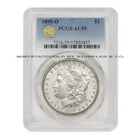 1895-O $1 SILVER MORGAN PCGS AU55 PQ APPROVED NEW ORLEANS GRADED DOLLAR COIN