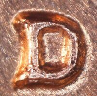 1964 D LINCOLN MEMORIAL CENT   BU   RE PUNCHED MINT MARK   1MM 025