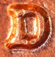 1964 D LINCOLN MEMORIAL CENT   BU   REPUNCHED MINT MARK    1MM 034