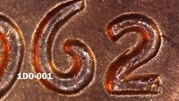 1962 D LINCOLN MEMORIAL CENT   BU   DOUBLED DIE OBVERSE    1DO 001