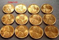 1950 D LINCOLN CENT MS RED HALF ROLL N25