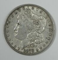 1878 7-TAIL FEATHER REV OF 1879 MORGAN SILVER DOLLAR EXTRA FINE
