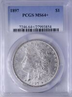 1897 MORGAN DOLLAR PCGS MINT STATE 64