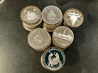 1971-1991 CANADA SILVER DOLLARS LOT OF 99 COINS MIXED SPECIMEN & PROOF  E7805