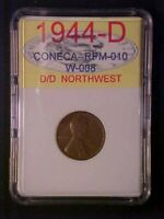1944-D/D NORTHWEST RPM-10 LINCOLN WHEAT CENT -GREAT VARIETY-AA458UXXX