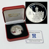 2015 FALKLAND ISLANDS 1 ONE CROWN STERLING SILVER PROOF COLL
