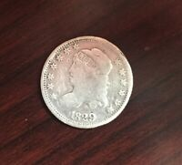 1829 US CAPPED BUST HALF DIME 5 CENTS SILVER COIN