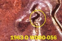 1963 D LINCOLN MEMORIAL CENT   BU   NEW DISCOVERY   WDDO 056   DOUBLED EYELID