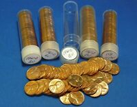 1961 D LINCOLN MEMORIAL CENTS   BU   5 TUBED ROLLS